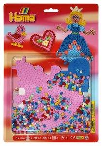Hama 4067 - Perlenset Prinzessin, zwei Stiftplatten 236+258 mit