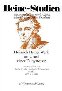 Heinrich Heines Werk im Urteil seiner Zeitgenossen III. 1835 - 1