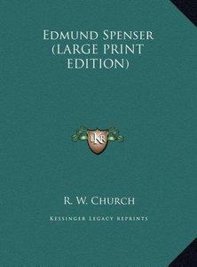 Edmund Spenser (LARGE PRINT EDITION)