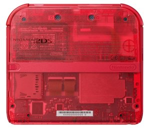 Nintendo 2DS Konsole - Transparent Rot
