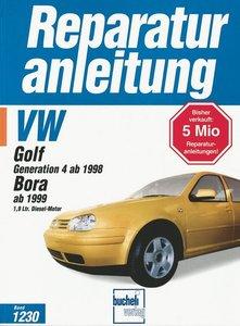 VW Golf Generation 4 ab 1998. Bora ab 1999 1.9 Ltr. Diesel-Motor