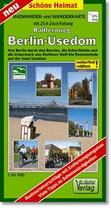 Radwander- und Wanderkarte Radweg Berlin-Usedom 1:50000