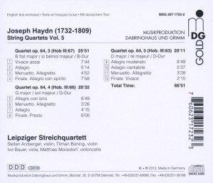 Vol. 5 Streichquartette op.64 3,4+5