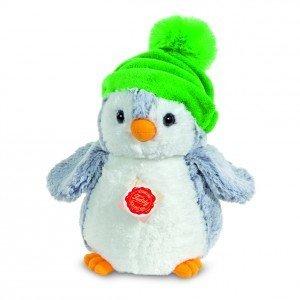 Teddy Hermann 90023 - Pinguin mit Mütze grün