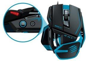 MadCatz R.A.T.TE Gaming Maus, matt-schwarz