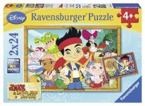 Ravensburger 088881 - Jake auf Schatzsuche, 2 x 24 Teile Puzzle