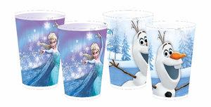 Disney FROZEN - Die Eiskönigin Mehrweg-Trinkbecher Elsa + Olaf,