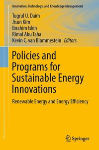Policies and Programs for Sustainable Energy Innovations