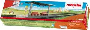 H0 Bahnsteig, steckbarer Bausatz (Ergänz