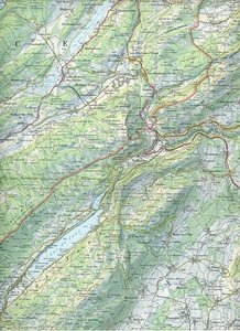 Swisstopo 1 : 100 000 Vallorbe