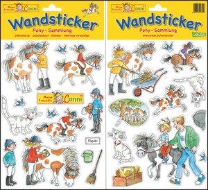 Meine Conni Wandsticker: Pony Sammlung
