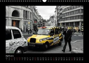 Taxis in London / UK-Version (Wall Calendar 2015 DIN A3 Landscap