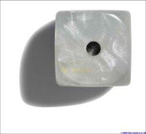 Philos 7104 - Würfel, 12 mm pearl weiß, 36er Brick -