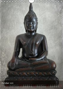 Buddha Statues - UK Version (Wall Calendar 2015 DIN A4 Portrait)