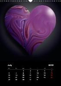 Lovely Hearts/UK Version (Wall Calendar 2015 DIN A3 Portrait)