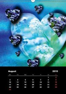 Lovely Hearts/UK Version (Wall Calendar 2015 DIN A3 Portrait)