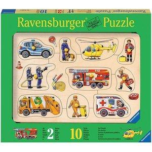 Ravensburger 03681 - Im Einsatz, Holzpuzzle, 10 Teile