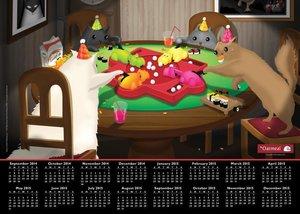 The Oatmeal 2014-15 Calendar Poster
