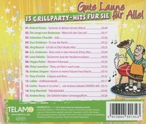 Gute Laune für alle - 15 Grillparty Hits für Sie