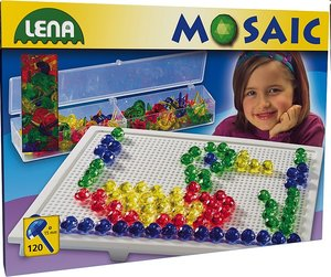 Lena 35536 - Mosaic Set Transparent, 1,5 cm, groß
