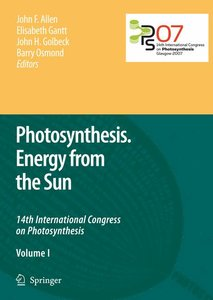 Photosynthesis. Energy from the Sun. 2 vols.