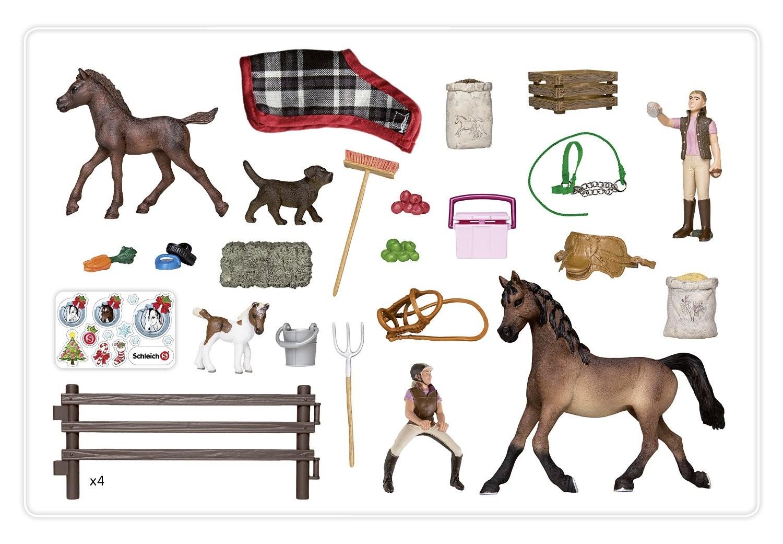 Pferde Weihnachtskalender.Schleich 97020 Adventskalender Pferde Weihnachten