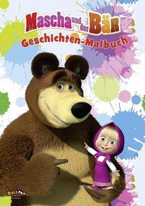 Mascha und der Bär - Geschichten-Malbuch