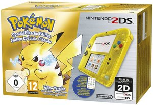Nintendo 2DS - Konsole - Gelb Transparent inklusive Pokémon Gel