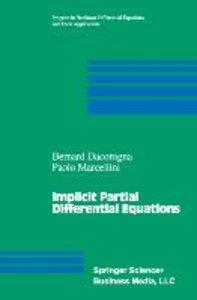 Implicit Partial Differential Equations