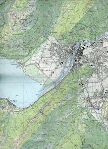 Swisstopo 1 : 25 000 Region Thunersee