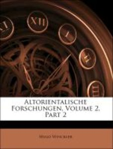 Altorientalische Forschungen, Volume 2, Part 2