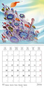 Dessins de fleurs sauvages (Calendrier mural 2016 300 × 300 mm S