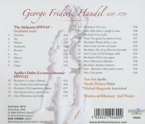 Händel: Apollo e Dafne/Der Alchimist