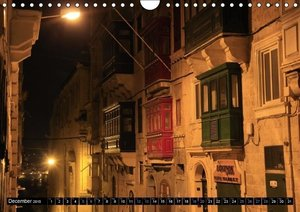 Valletta by night (Wall Calendar 2015 DIN A4 Landscape)