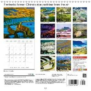 Fantastic forms: China\'s rice paddies from the air (Wall Calend