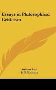 Essays in Philosophical Criticism