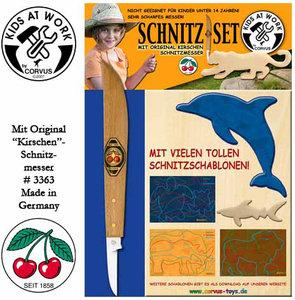 Corvus A600041 - Schnitz-Set, mit original Kirschen Schnitzmesse