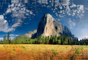 Premium Textil-Leinwand 120 cm x 80 cm quer El Capitan, Yosemite