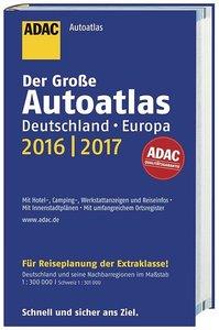 Großer ADAC AutoAtlas 2016/2017, Deutschland 1:300 000, Europa 1