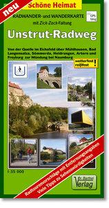 Radwander- und Wanderkarte Unstrut-Radweg 1:35000