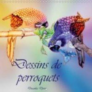 Dessins de perroquets (Calendrier mural 2015 300 × 300 mm Square