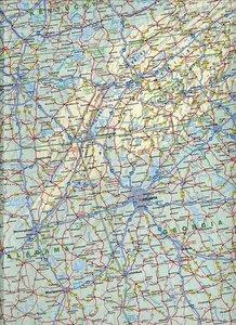 USA East 1 : 2 200 000. Straßenkarte