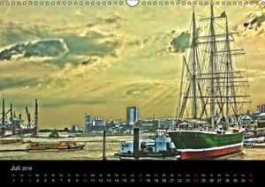 Hamburg HDR (Wandkalender 2016 DIN A3 quer)