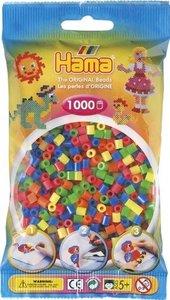 Hama 207-52 - Perlen, fluor gemischt, 1000 Stück