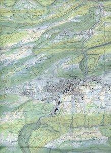 Swisstopo 1 : 25 000 Moutier