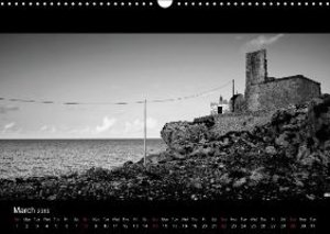 Black and White Sicily (Wall Calendar 2015 DIN A3 Landscape)