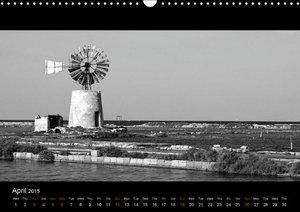 Black and White Sicily (Wall Calendar 2015 DIN A3 Landscape)