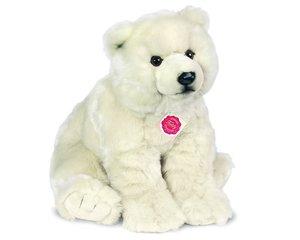 Teddy Hermann 915300 - Plüsch-Eisbär sitzend, 50 cm