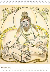 Mit Buddha durchs Jahr: historische Zeichnungen (Tischkalender 2