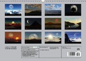 Luna 2 - fictional lunar landscapes (Wall Calendar 2015 DIN A3 L